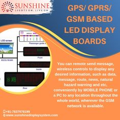 The major benefit of GPS/GPRS/GSM based LED displays is that one can control the display from any remote place wherever the wireless network is available. Led Display Board, Video Wall, Send Message, Remote, Messages, News, Phone, Natural, Telephone