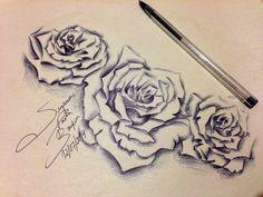 Me drawing roses I imagine... Spherographic pen art Suzanna Paulla Bomfim 2014