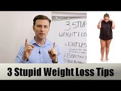 How To Achieve Weight Loss Quiz : 3 Stupid Weight Loss Tips - Health & Diet Plans Dr Eric Berg, Dr Berg, Weight Loss Plans, Fast Weight Loss, Healthy Weight Loss, Losing Weight Tips, Weight Loss Tips, How To Lose Weight Fast, Thing 1