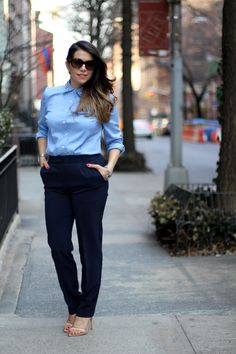 what to wear to work; ann taylor button down with jeweled collar