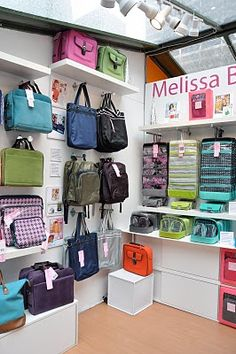 Love this display of bags