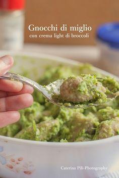Gnocchi di miglio con crema light di broccoli    #vegan #vegetarian