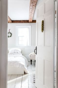 Once home to squatters, a family's sunny Winterport Colonial is now filled with hygge and holiday vibes. Farmhouse Bedrooms, Hygge, House Tours, Colonial, Beautiful Homes, Maine, Home And Garden, Cottage, Bright