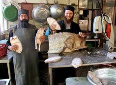 Making bread at Agia Anna