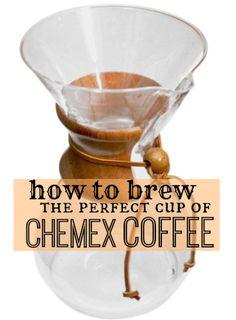 How to use a chemex coffee maker…enjoy a live demo!