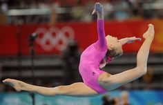 My #1 favorite gymnastics photo ever - Nastia Liukin leaping to the All-Around gold medal at the 2008 Olmypic Games in Beijing.