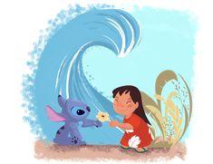 lilo and stitch disney lilo stitch lilo & stitch Disney fan art Lilo And Stitch 2002, Lelo And Stitch, Lilo Et Stitch, Disney Kunst, Disney Fan Art, Disney Love, Disney Pixar, Disney Mural, Ohana