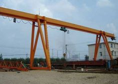 Large single girder gantry crane is widely used in the port, warehouse, worrkshop and construction site etc. Cranes For Sale, Gantry Crane, Advanced Driving, Structure And Function, Power Unit, Drive Shaft, Heavy Equipment, High Quality Images, Beams