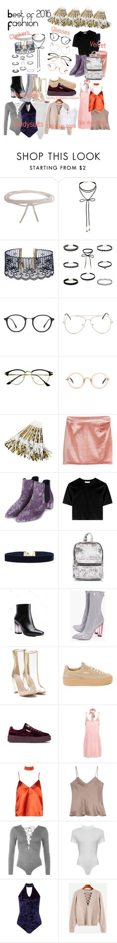 """""""Best of 2016: fashion"""" by darling-ange1 ❤ liked on Polyvore featuring Humble Chic, Miss Selfridge, Vanessa Mooney, Ray-Ban, Miu Miu, Topshop, Boohoo, Puma, WithChic and Etro"""