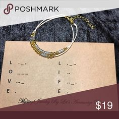 """LOVE, LIFE Bracelet """"A Morse Code"""" Collection LOVE, LIFE Bracelet """" Mystical Jewelry"""" Collection. This unique two strand bracelet is perfect to show off your passion for love and life. An everyday piece of jewelry, it is sure to get noticed by many ;) Jewelry Bracelets"""