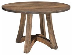 Amish Tifton Round Pub Table Solid wood quality for your perfect party pub table. Unique contemporary design. Made in America and customized in the solid wood and stain you choose. #pubtable #diningtable #woodtables