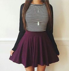 49 modest but classy skirt outfits ideas suitable for fall Outfits 2016, Mode Outfits, Spring Outfits, Fashion Outfits, Womens Fashion, Fashion Ideas, Emo Fashion, Fashion Advice, Style Fashion