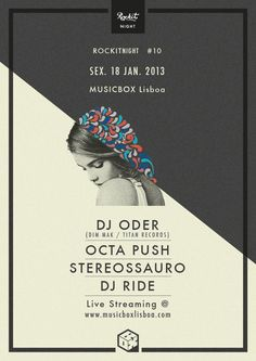 nice Rockit Nights @ Lisbon by Carlos Quiterio, via Behance...