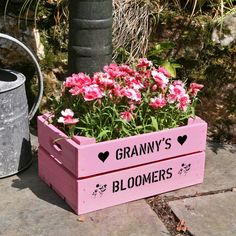 Personalised wooden apple crate mothers day gift