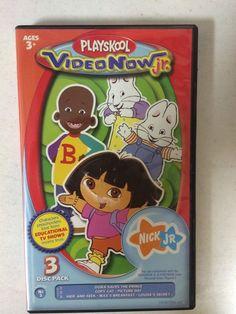 Playskool Video Now Jr Dora Explorer Three Dis Set  (MISSING One Disc) #VideoNow