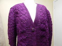 Suéter como tejer el Frente Crochet