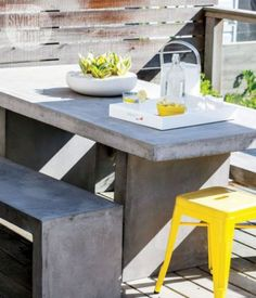 Amazing outdoor dining table