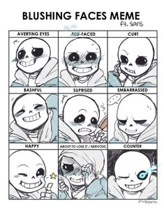 Undertale Sans  Because we all wanna see a variety of blushing.  I dunno. It's just cute, in a non-obsessive way. ;)