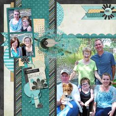 Digital Scrapbook Page, Snapshots, right