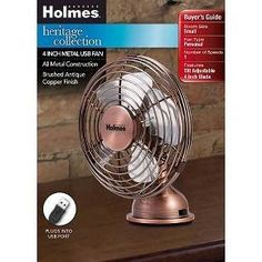 Holmes 174 Metal Desk Fan Medium Bronze Hdf0646 Ct Home