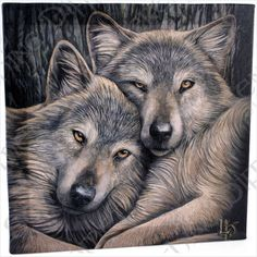 Gorgeous Lisa Parker Wall Canvas - Loyal Companions (Wolves)