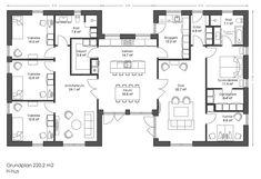 220 H-hus - fremtidens typehuse trygt og sikker 4 Bedroom House Plans, New House Plans, Dream House Plans, Modern House Plans, House Floor Plans, Home Decor Bedroom, Sims 4 Houses, Big Houses, Cabin Plans