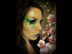 Green Garden Fairy Makeup Look (Halloween) - YouTube