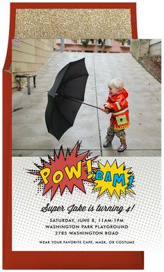Super Hero Pow by Olivia Raufman | Greenvelope.com