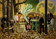 Сеанс одновременной игры (Ангел, помогающий в игре). 1987. Холст, масло. 145 × 198 см.