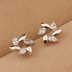 Find More Stud Earrings Information about Free Shipping 925 sterling silver jewelry earrings zircon crystal silver stud earrings wholesale Pendientes Brincos de plata,High Quality Stud Earrings from MM Vogue Jewelry Shop. on Aliexpress.com