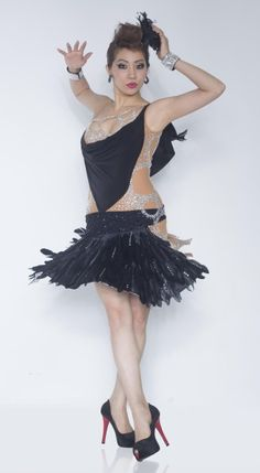 Black Feather Skirt Latin