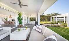 Spring is upon us… and when we think about Spring, cleaning isn't the only thing that comes to mind. Grand Designs Houses, Mcdonald Jones Homes, Outdoor Furniture Sets, Outdoor Decor, Step Inside, The Fresh, The Hamptons, Luxury Homes, House Plans