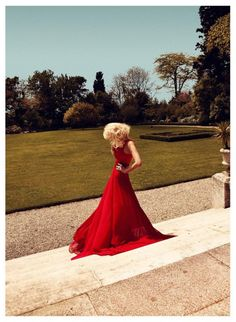 harpers bazaar 9 Lady in red (10 HQ photos)
