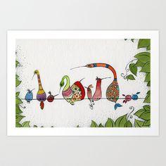 We love Laughbirds Art Print by Friederike Ablang - $14.56