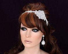 SALE Crystal Headband Bridal Headpiece Bridal by EleganceByKate