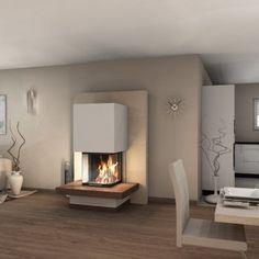 Spartherm Arte Heizeinsatz – Kaminbausatz - Warm home decor Fireplace Kits, Modern Fireplace, Living Room With Fireplace, Fireplace Design, Home Living Room, Living Room Designs, Living Room Decor, Living Spaces, Fireplaces