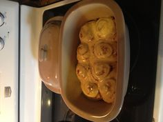 Pillsbury Orange Sweet Rolls cooked for 5 minutes in the microwave using the Deep Covered Baker. So yummy! www.pamperedchef.biz/klaire