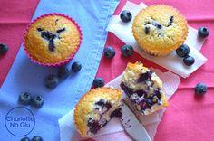 Muffins aux myrtilles (sans gluten et sans lait) - Blueberry muffins (gluten and dairy free)