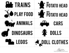 Speelgoed labels