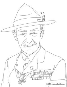 ROBERT BADEN POWELL coloring page