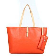 Women's Leather Handbag Shoulder Bag with Coin Wallet (or…