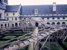 The Cloister Garden at L'Abbaye Fontevraud
