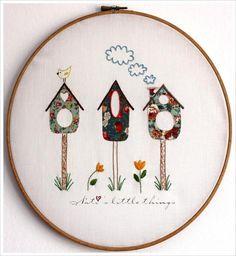 Bird houses  pattern on Craftsy.com