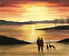 Cartoon Dog, Dog Cartoons, Greyhound Art, Lurcher, Grey Hound Dog, Greyhounds, Painting Lessons, Figure Painting, Wall Murals