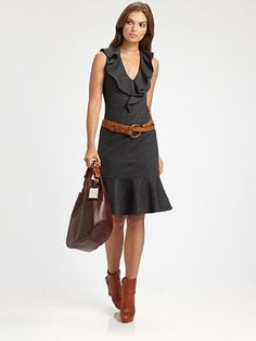 Can I just say loving loving loving all the new Ralph Lauren Blue Label - Normal Wool Ruffle Dress