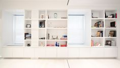 Cubbies built into the wall to provide storage - NY University Place Apartment, DWELL