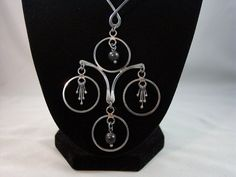 Modernist Sterling Silver Necklace Vintage Israel by VintageGemz, $95.00
