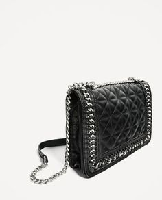 Image 3 of QUILTED LEATHER CROSSBODY BAG from Zara