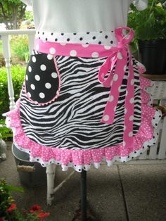 Aprons  Zebra Print Aprons  Wild ThingApron by AnniesAttic on Etsy, $28.95