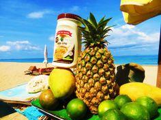 #Mediterraneo y Tropico van de la mano? Obvio! Piensan en un dulce de piña y mango revuelto con #Tahini o #Halva. Sabor!
